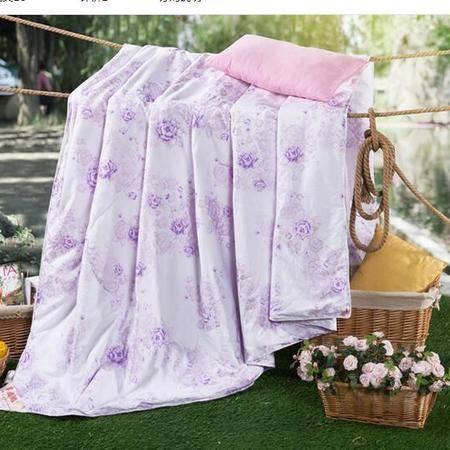 床上用品被枕套    新款珠光浆蚕丝夏被薄被子舒适透气贴身防潮空调被