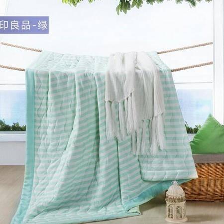 床上用品被枕套     新款针织棉夏被纯棉条纹简约空调被薄被子夏凉被