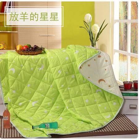 床上用品被枕套    星星月亮纤维夏被简约舒适透气夏凉被空调被