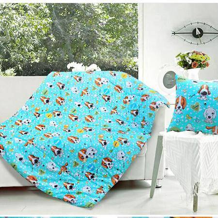床上用品被枕套     全棉抱枕被多功能两用被子靠垫抱枕空调被子