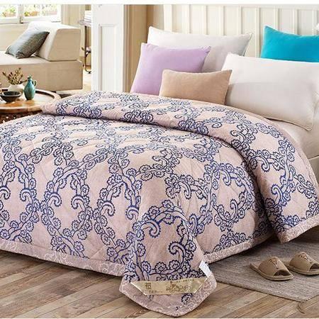 床上用品被枕套     全棉夏被纯棉空调被薄被子田园清新舒适透气夏凉被空调被