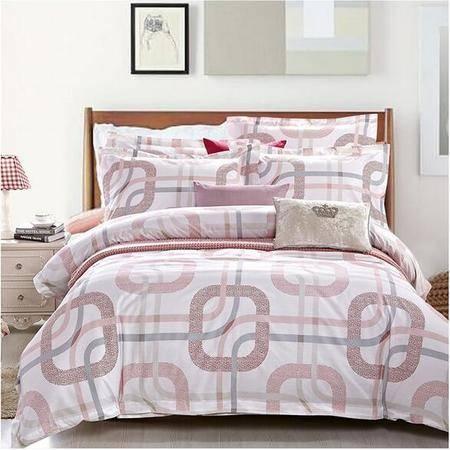 床上用品被枕套    时尚印花全棉四件套 纯棉高档简约时尚个性风格套件