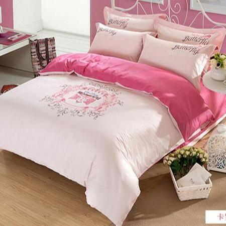 床上用品被枕套     欧式简约个性时尚全棉印花四件套纯棉高档套件