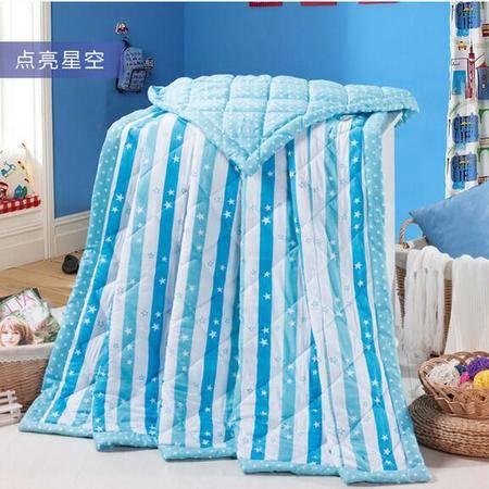 床上用品被枕套    宜家风全棉夏被 简约卡通空调被夏凉被舒适透气