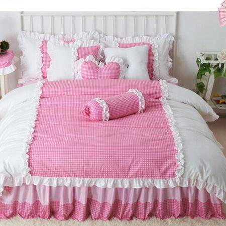 床上用品被枕套    新款韩版公主床裙纯棉活性印花可爱薇恩床上用品四件套