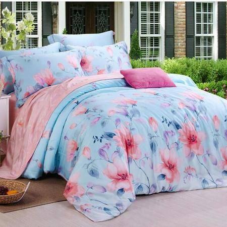 床上用品被枕套     欧式40s天丝四件套床上用品套件裸睡套件单人双人款套件