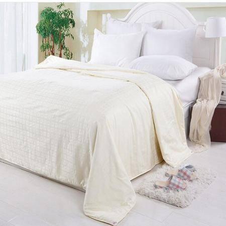 床上用品被枕套     全棉蚕丝夏被纯棉双人加大舒适透气空调被薄被子