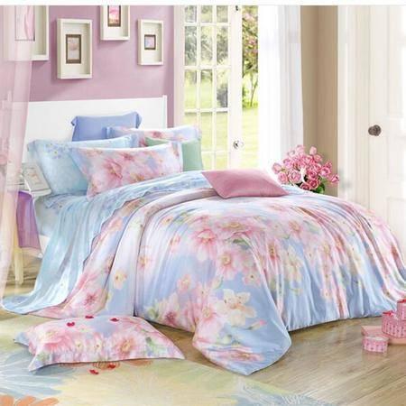 床上用品被枕套     40支双面100%纯天丝四件套欧式春夏季1.8床上用品四件套