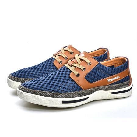 男鞋 夏季网面鞋男透气运动鞋系带休闲鞋板鞋男士网鞋