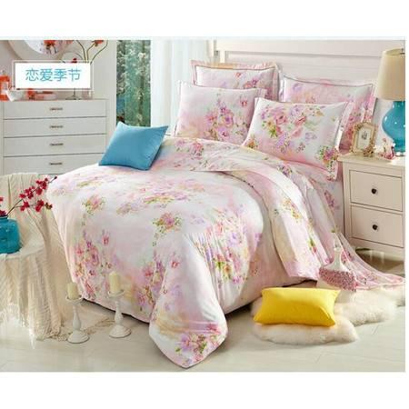 床上用品被枕套    新款100%双面40支纯天丝四件套春夏欧式简约超柔裸睡床单被套