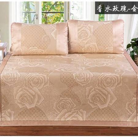 床上用品被枕套     新款提花三明治凉席三件套加厚单双人夏凉席1.2、1.5米1.8m床