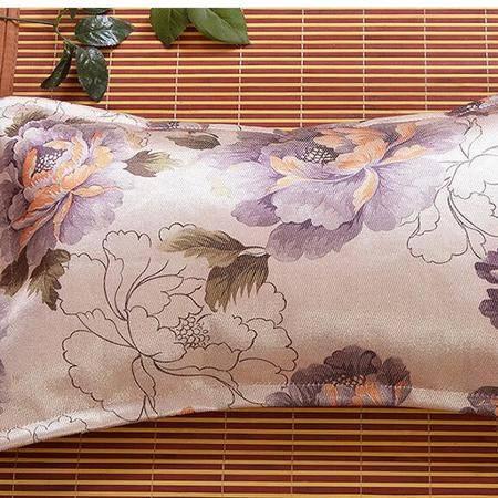 床上用品被枕套     新款冰丝印花茶叶枕头夏凉枕头冰丝磁条麻将舒适枕头儿童枕席枕芯