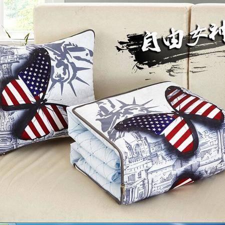 床上用品被枕套     多功能抱枕被子两用办公室靠垫汽车靠垫被折叠空调被