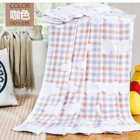 床上用品被枕套 柔软纯棉全棉毛巾被空调被夏凉被线毯夏单人薄毯