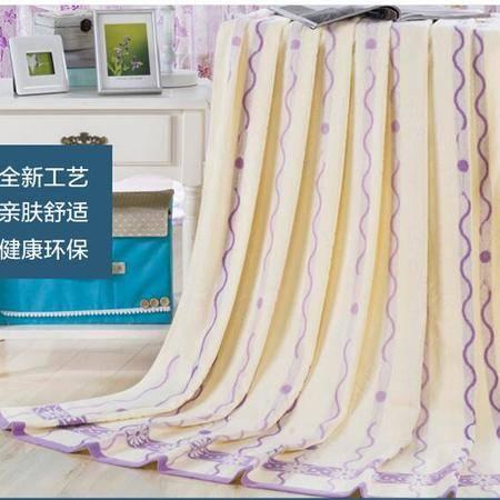 床上用品被枕套 全棉毛巾被单人双人加厚纯棉毛巾毯毛毯提花天然棉