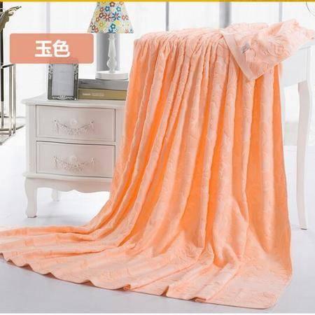 床上用品被枕套   纯棉毛巾被单双人休闲毯子全棉办公盖毯床单空调毯夏季款