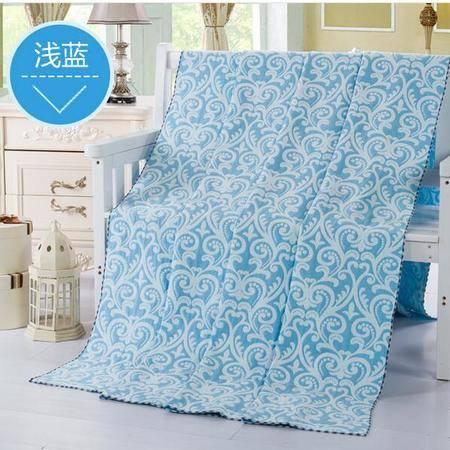 床上用品被枕套  毛巾被纯棉 全棉毛巾毯单双人加厚毛毯夏季午睡毯空调被
