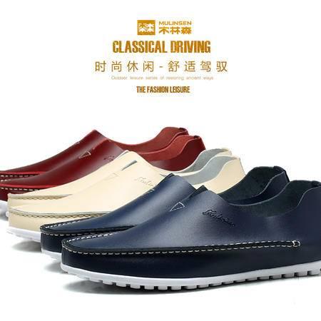 夏季男鞋豆豆鞋男士休闲鞋英伦驾车鞋懒人套脚鞋子男乐福鞋