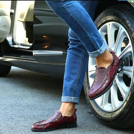 男鞋英伦真皮男士商务休闲皮鞋男春季套脚青年皮鞋低帮单鞋子