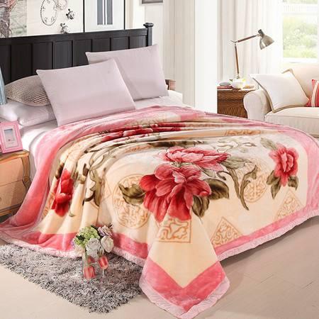 优里卡加厚6-8斤 双层拉舍尔毛毯