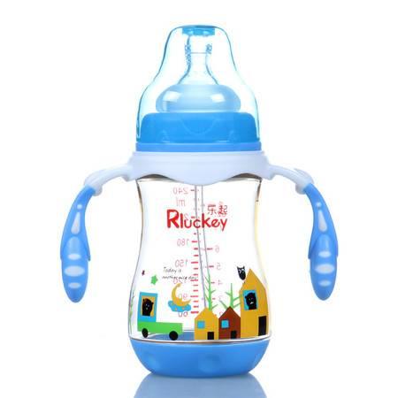 新款240MLPPSU奶瓶 高端防胀气奶瓶 耐高温十字孔型婴儿奶瓶