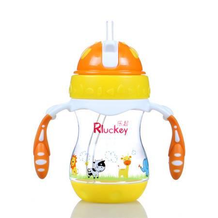 一瓶两用滑盖式双耳吸管杯 儿童水壶 水杯奶瓶 二合一180ml