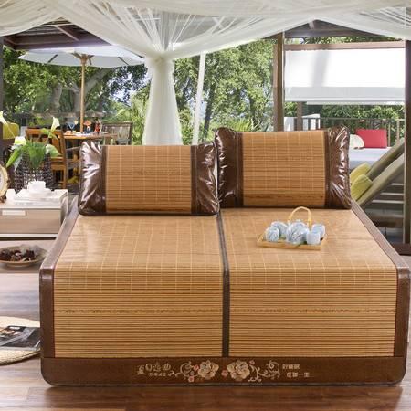 贵族时代双面席可折叠凉席天然竹席三件套枕套1.5m1.8m单双人席子