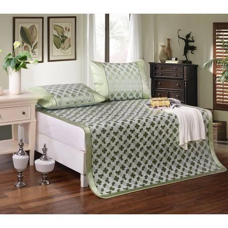 家纺 床品新款提花冰丝席6个尺寸 四叶花