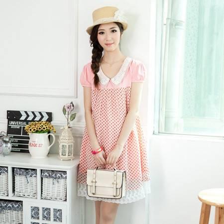 时尚韩版孕妇装夏装新款韩国孕妇连衣裙 孕妇雪纺裙子夏
