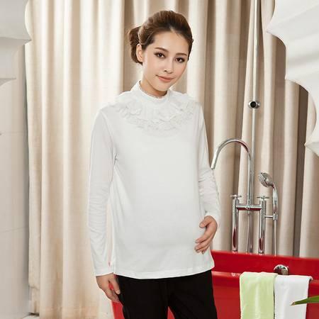 新款孕妇装春装上衣 大码孕妇打底衣 时尚T恤 韩版长袖打底衫