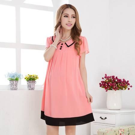 装新款夏装 韩版时尚孕妇裙 大码雪纺孕妇裙 连衣裙