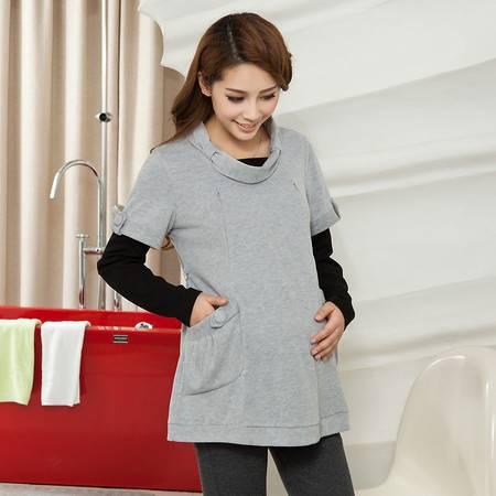品牌秋冬孕妇装 外出韩国哺乳装 时尚长袖喂奶衣 纯棉哺乳衣
