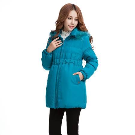 韩版时尚孕妇装外套 秋冬新款孕妇棉衣批发 加厚保暖孕妇棉袄