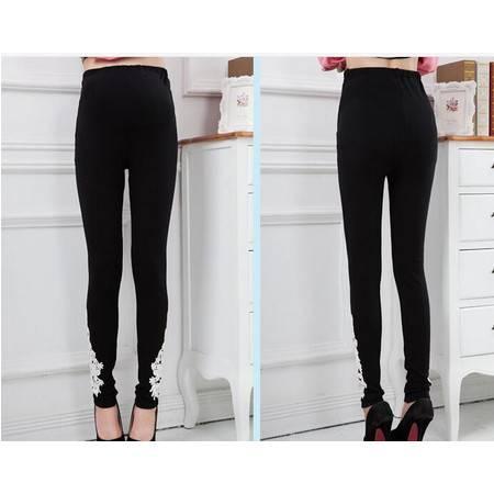 品牌孕妇装打底裤春装韩版时尚孕妇托腹裤 纯棉孕妇铅笔长裤