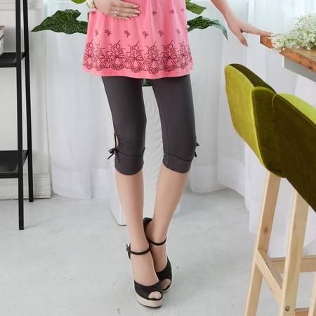 夏装孕妇打底裤 孕妇托腹七分裤 韩版 孕妇裤