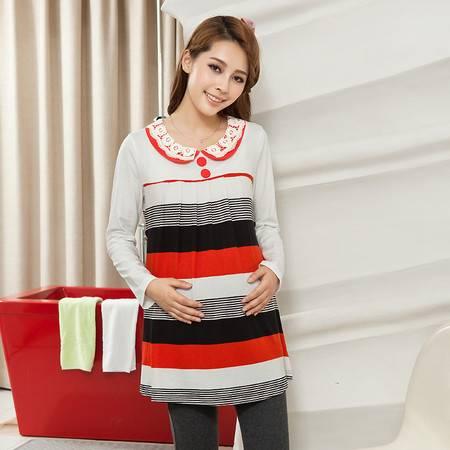 新款孕妇装秋冬装 秋季孕妇长袖上衣 韩版孕妇T恤 大码孕妇衫
