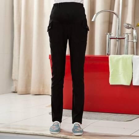 韩版孕妇装新款 秋冬大码孕妇裤 纯棉孕妇裤 孕妇小脚裤