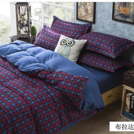 床上用品被枕套 乐肤棉个性四件套家纺 不褪色