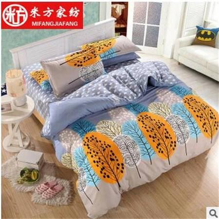 床上用品被枕套新品南通家纺四件套 欧美宜家风四件套批发环保印花套件加工