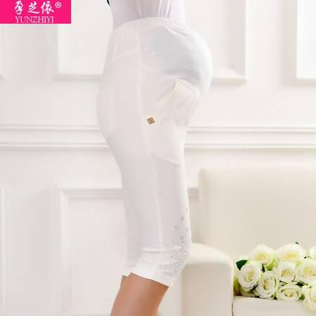 孕妇裤 夏装新款 韩版时尚孕妇七分托腹裤 纯棉孕妇打底裤铅笔裤