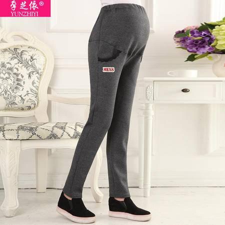 孕妇裤秋冬装新款打底裤托腹加绒加厚保暖休闲运动长裤冬