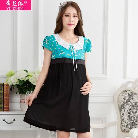 孕妇连衣裙夏装新款孕妇装 韩版宽松大码时尚孕妇裙子