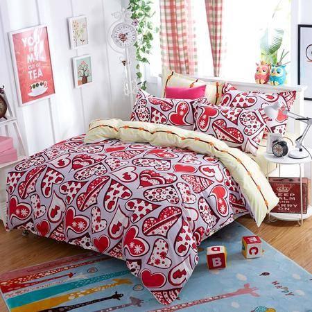 床上用品被枕套 床上用品四件套专版花型 春夏四件套 AB版印花四件套
