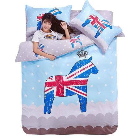 床上用品被枕套  AB大版印花四件套批发 个性四件套