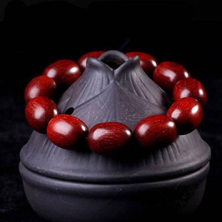 工艺非洲印尼老料小叶紫檀赞比亚血檀2.0枣珠男女情侣款士佛珠手串手链