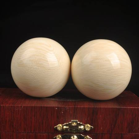 工艺天然象牙果50mm树脂手球保健球健身球仿象牙老年康乐球长寿球径