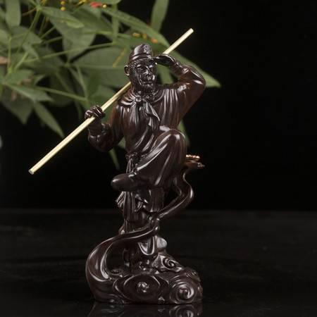 工艺黑檀木倒流香炉创意摆件 齐天大圣 精品木雕礼品工艺品