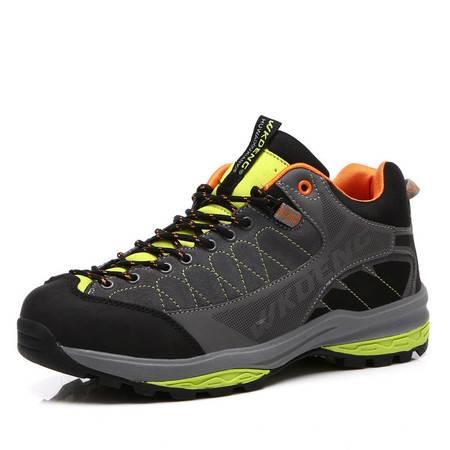 秋冬徒步新款真皮保暖低帮户外鞋男 舒适耐磨登山鞋男鞋