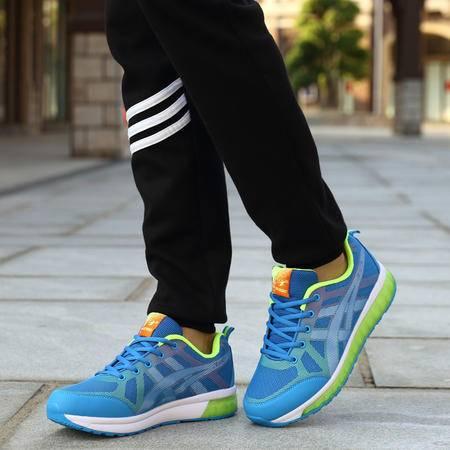 春夏运动鞋男士休闲跑步鞋气垫炫彩慢跑鞋耐磨旅游鞋