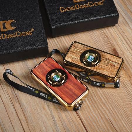 工艺沉香木贴片USB充电打火机电丝加热盘玩血檀工艺电丝打火机